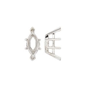 6 Prong Double Gallery Marquise Setting with V-Ends