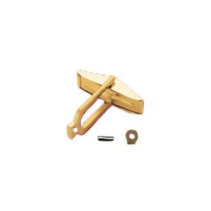 Flat Top Cufflink Back Set with Connector and Pin