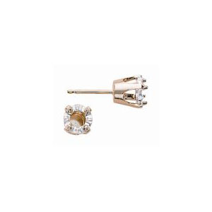 Pin-Top Illusion 4 Prong Earring