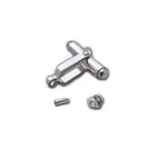 Plain Bullet-type Cufflink Back Set with Connector and Pin