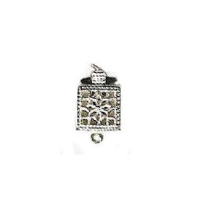 Rectangular Shaped Filigree Pearl Clasp for 1 Strand