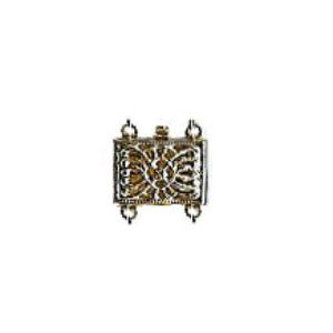 Rectangular Shaped Filigree Pearl Clasp for 2 Strands