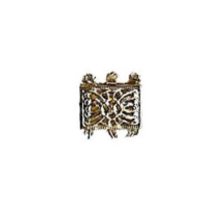 Rectangular Shaped Filigree Pearl Clasp for 3 Strands