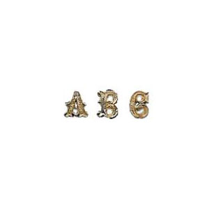 Script Letter with Screw (A-Z)