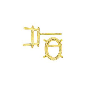 Standard 4 Prong Oval Earring