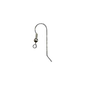 Shepheard Hook with Twisted Wire End and Bead