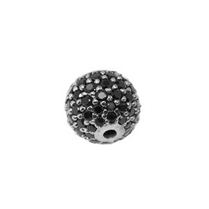 Bead with Stones (black)